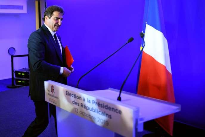 Christian Jacob, nouveau président de LR. Photo Internet