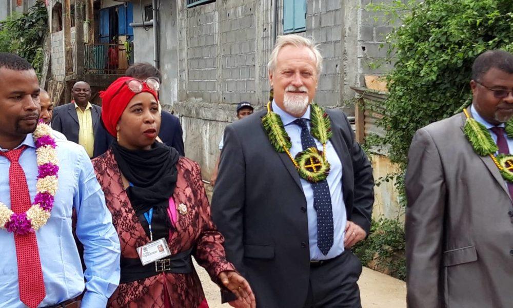 Visite du préfet à Acoua, sep 2019