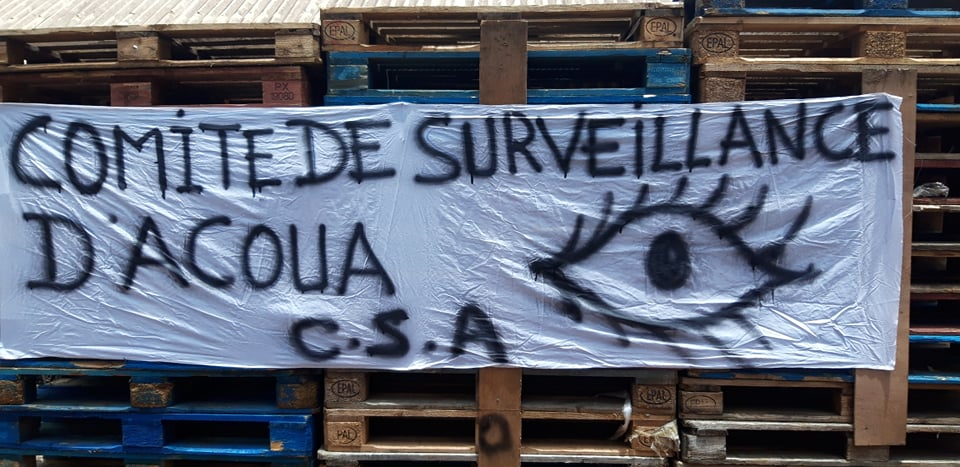 Comité Surveillance Acoua (CSA) Inauguration QG, Banderoule, 14 11 2020