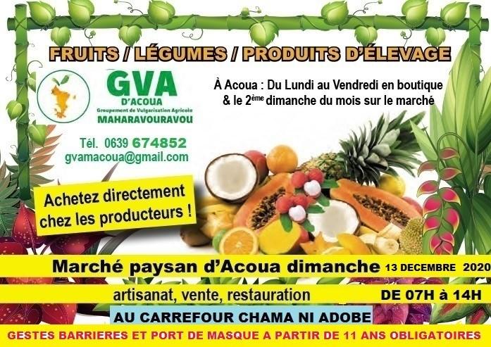 Marché paysan Gva Acoua 10 12 2020