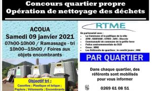 RTME Opération nettoyage des quartiers 01 2021