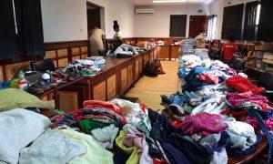 Salle de réunion Mairie Acoua collectes de dons